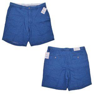 Peter Millar Seaside Indigo Flat Front Shorts Blue